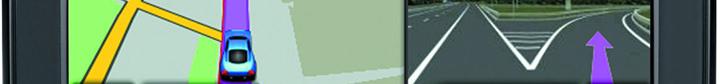 В garmin nuvi 40 реализована функция выбора полосы движение